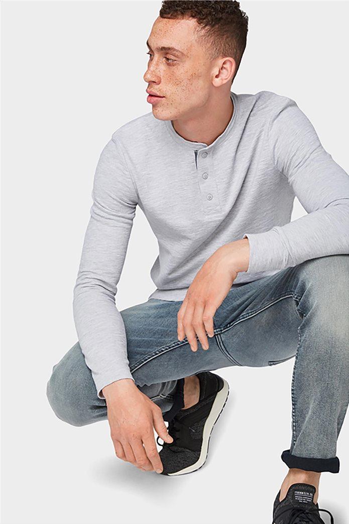 Tom Tailor ανδρική μπλούζα μονόχρωμη 0
