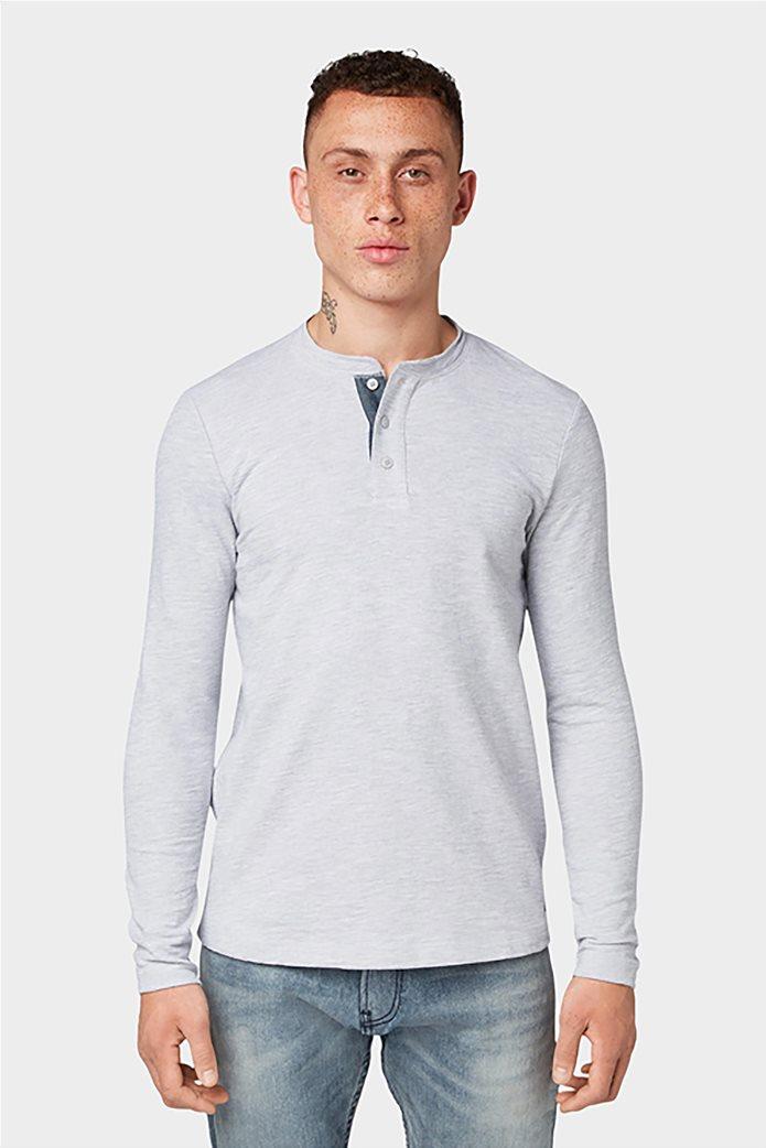 Tom Tailor ανδρική μπλούζα μονόχρωμη 1