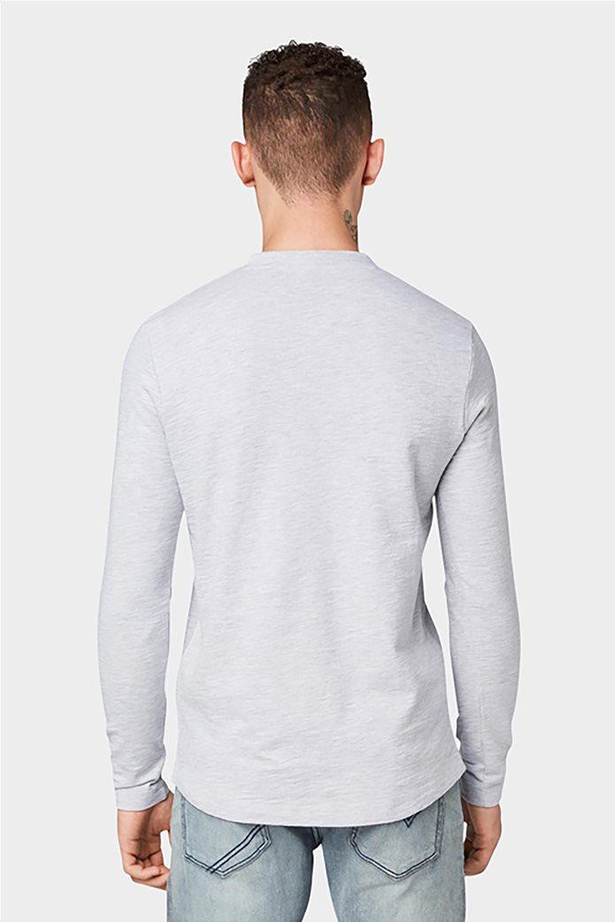 Tom Tailor ανδρική μπλούζα μονόχρωμη 2