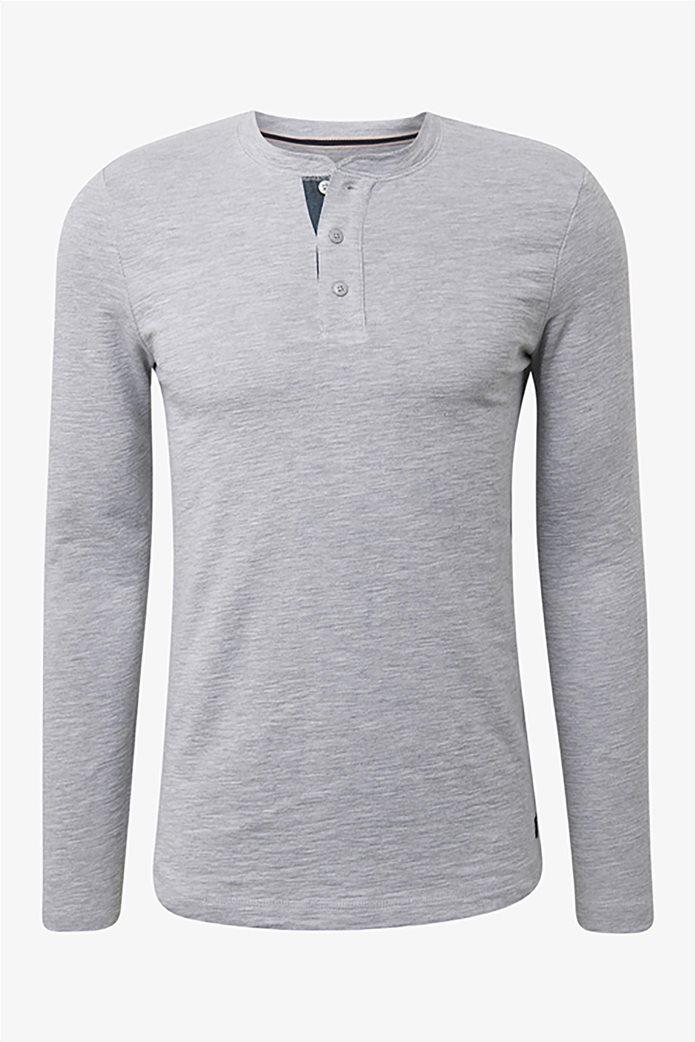 Tom Tailor ανδρική μπλούζα μονόχρωμη 3