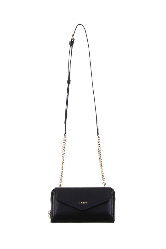 DKNY γυναικείο πορτοφόλι με λουράκι crossbody ''Polly'' 1