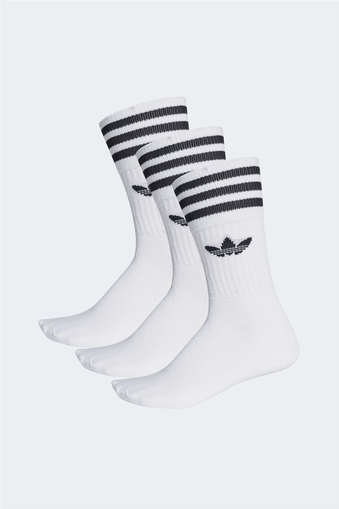 Adidas κάλτσες Crew με Adidas Originals λογότυπο σετ 3 τεμαχίων Λευκό 0