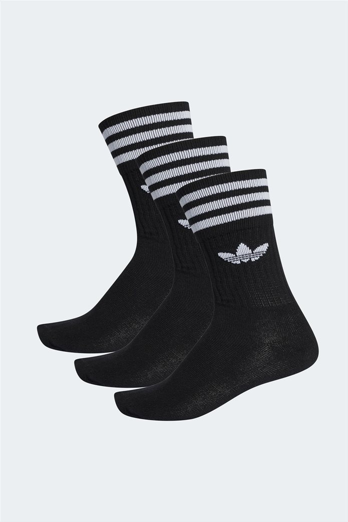 Adidas κάλτσες Crew με Adidas Originals λογότυπο Σετ 3 τεμαχίων Μαύρο 0