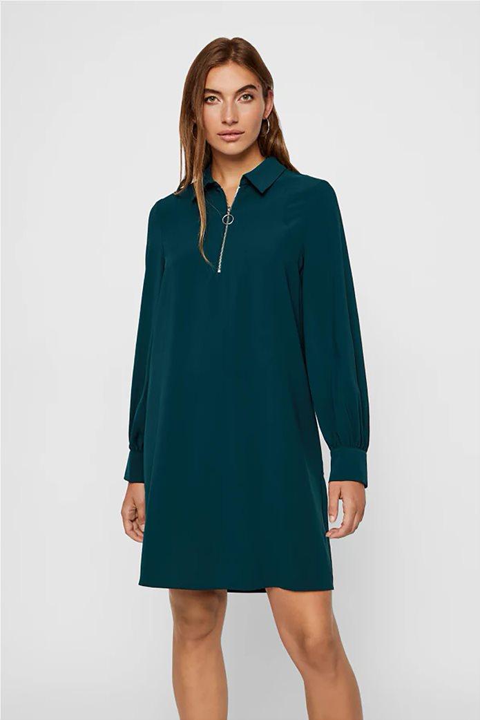 Vero Moda γυναικείο φόρεμα με φερμουάρ loose fit 0