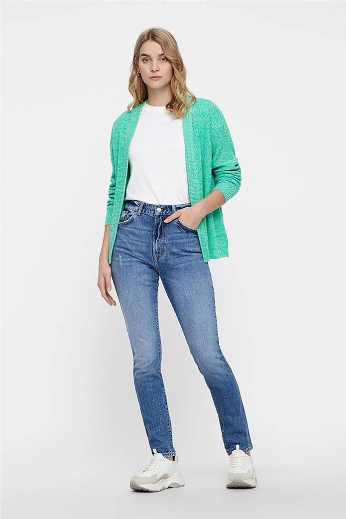 Vero Moda γυναικείο τζην παντελόνι με ξεβαμμένη όψη ψηλόμεσο 0