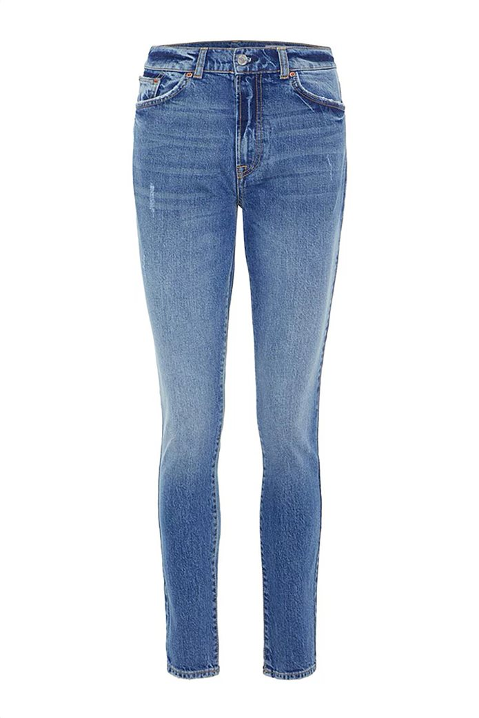 Vero Moda γυναικείο τζην παντελόνι με ξεβαμμένη όψη ψηλόμεσο 3