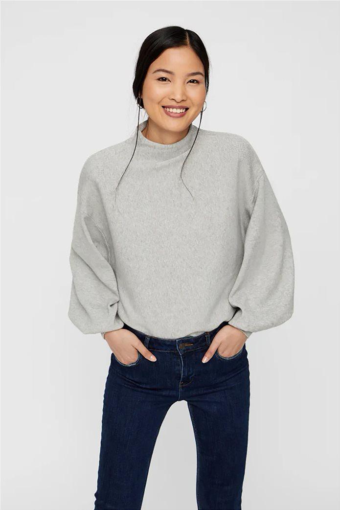 Vero Moda γυναικεία πλεκτή μπλούζα oversized με μανίκια balloon 0