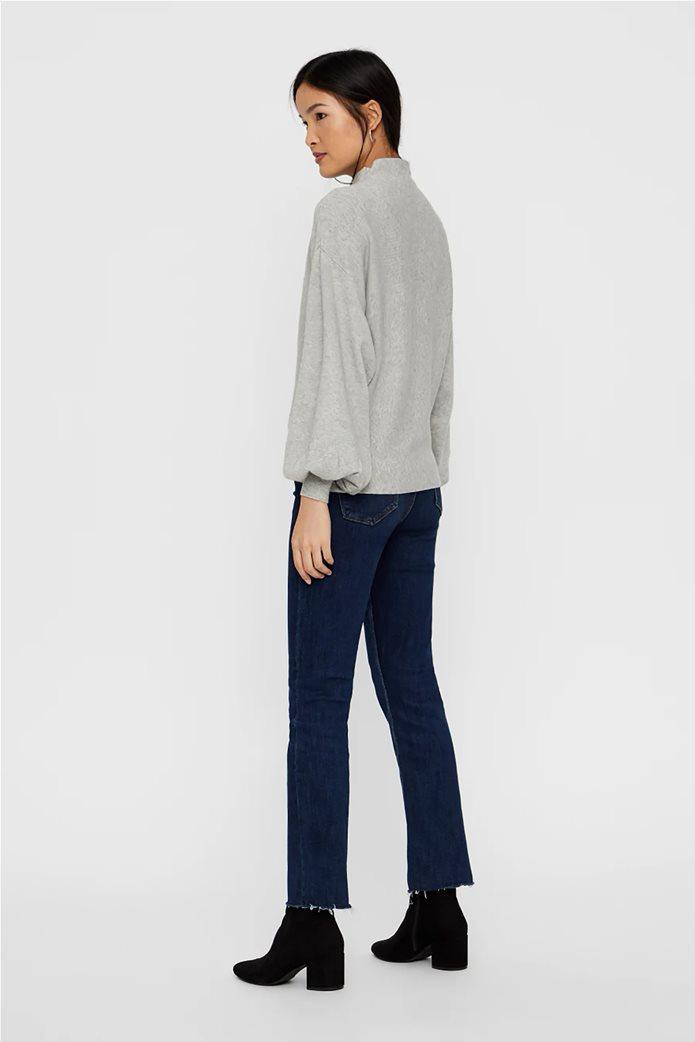 Vero Moda γυναικεία πλεκτή μπλούζα oversized με μανίκια balloon 2