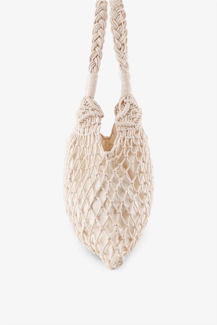 PIECES γυναικεία crotchet τσάντα ώμου 1