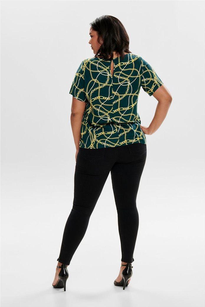 ΟNLY γυναικεία μπλούζα με print αλυσίδες 3