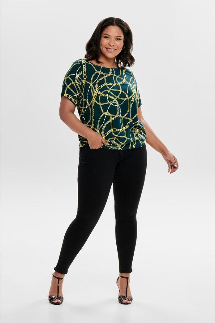 ΟNLY γυναικεία μπλούζα με print αλυσίδες 4