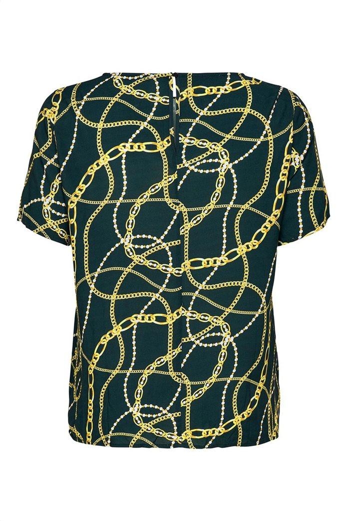 ΟNLY γυναικεία μπλούζα με print αλυσίδες 6