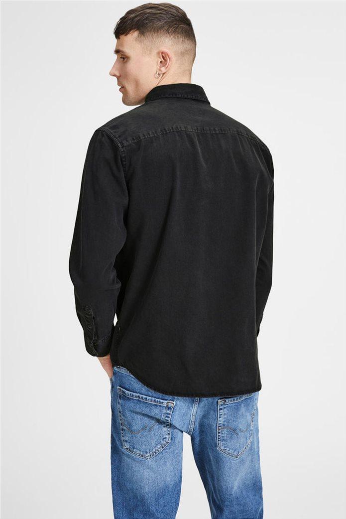JACK & JONES ανδρικό πουκάμισο denim Μαύρο 1