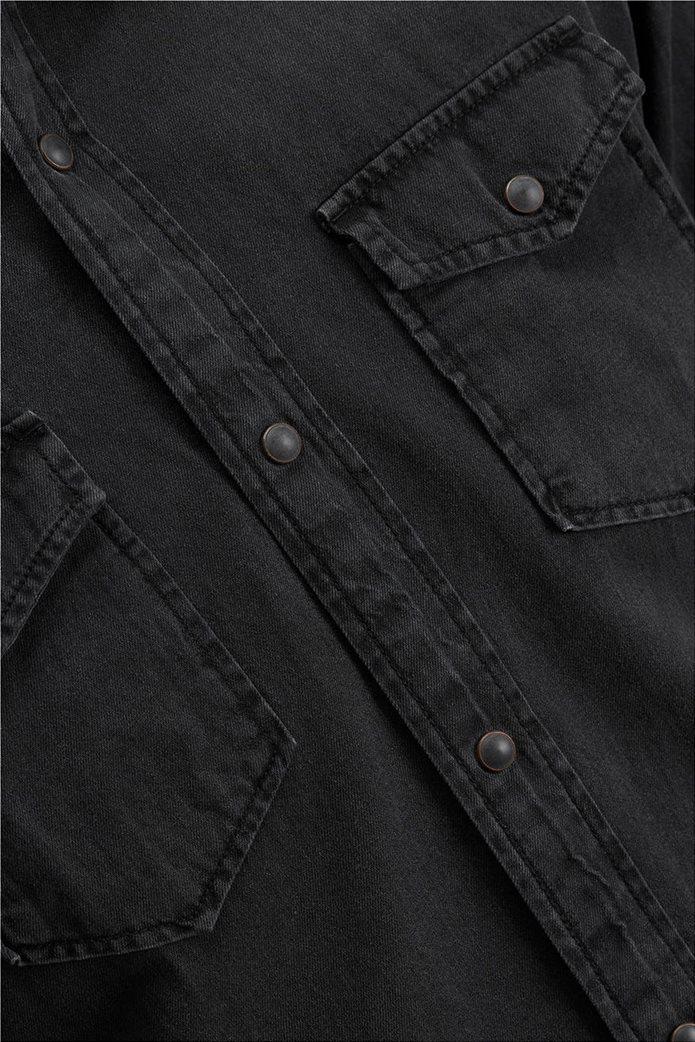 JACK & JONES ανδρικό πουκάμισο denim Μαύρο 4