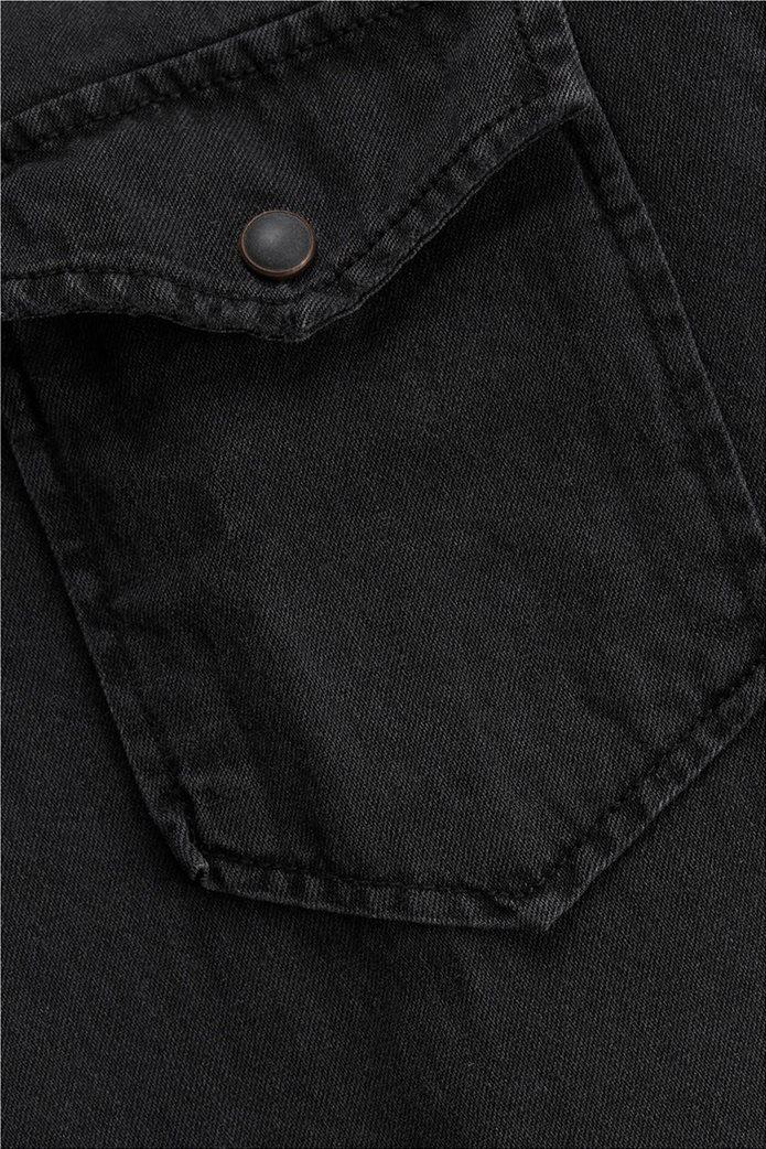 JACK & JONES ανδρικό πουκάμισο denim Μαύρο 5