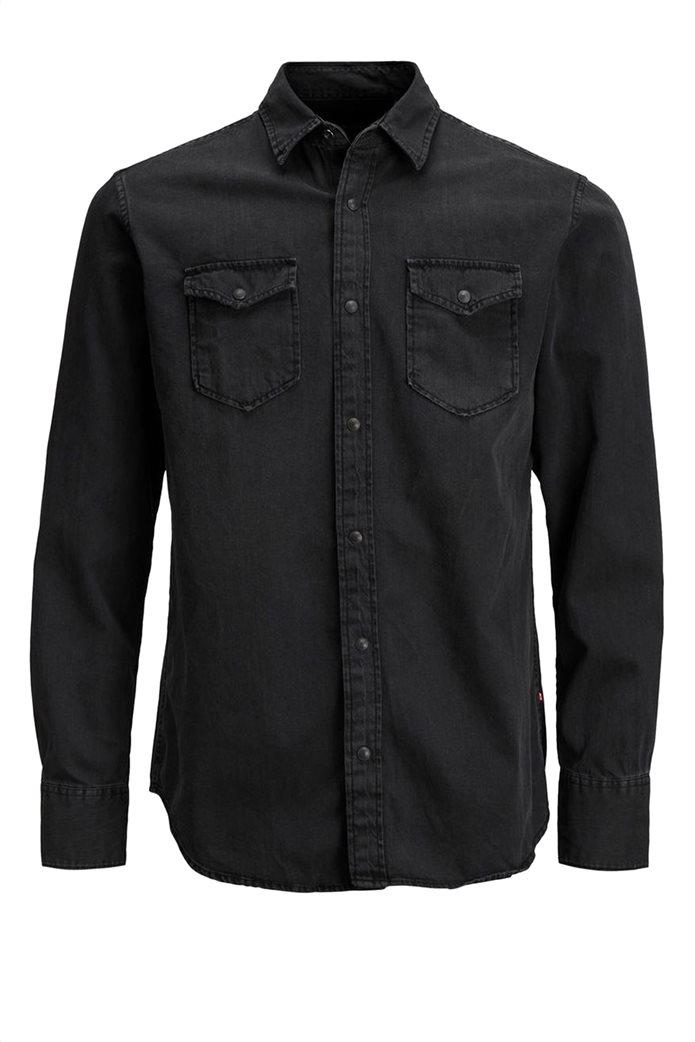 JACK & JONES ανδρικό πουκάμισο denim Μαύρο 6