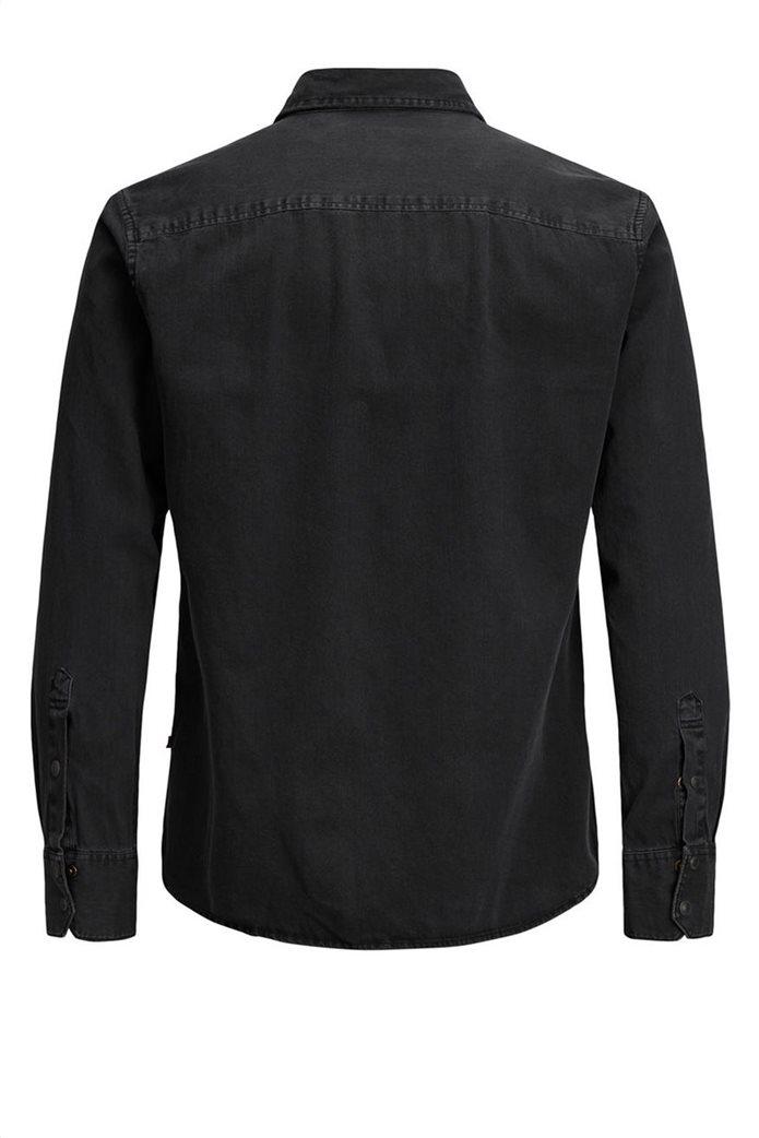 JACK & JONES ανδρικό πουκάμισο denim Μαύρο 7