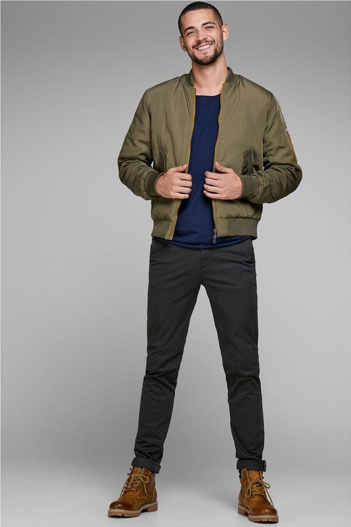 JACK & JONES Ανδρικό παντελόνι chino Marco Bowie Μαύρο 1