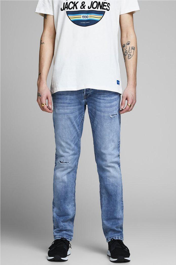JACK & JONES Ανδρικό jean παντελόνι Tim Original JJ 145 Lid Μπλε Σκούρο 0