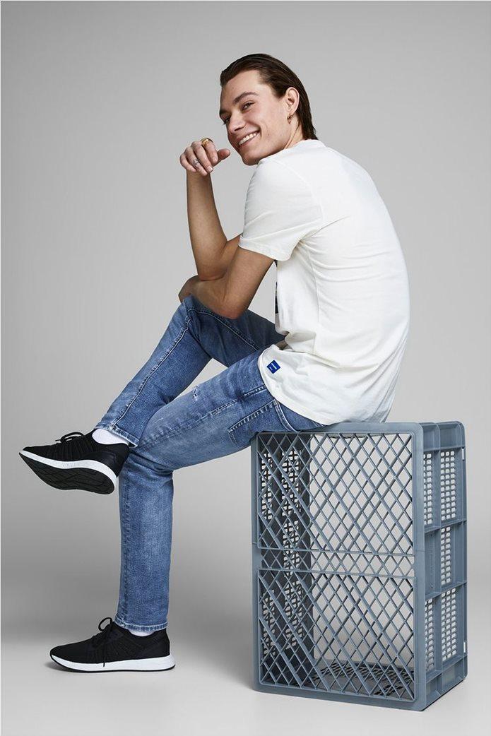 JACK & JONES Ανδρικό jean παντελόνι Tim Original JJ 145 Lid Μπλε Σκούρο 1