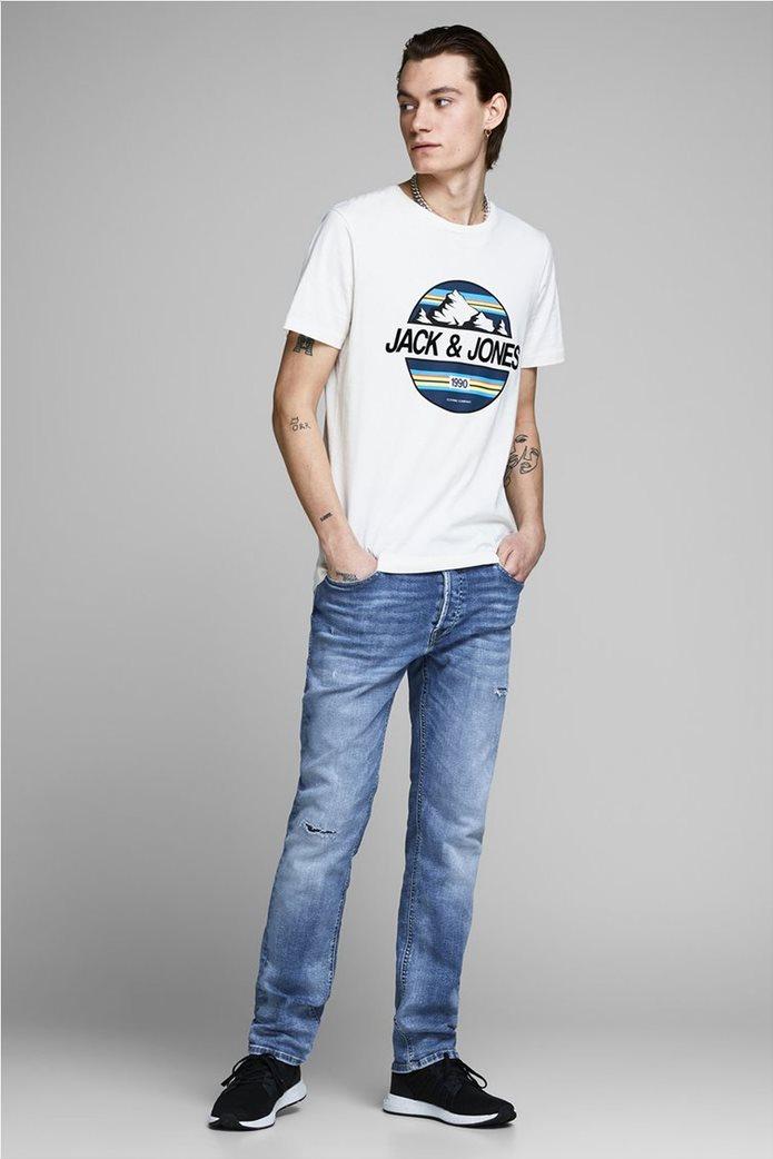 JACK & JONES Ανδρικό jean παντελόνι Tim Original JJ 145 Lid Μπλε Σκούρο 2
