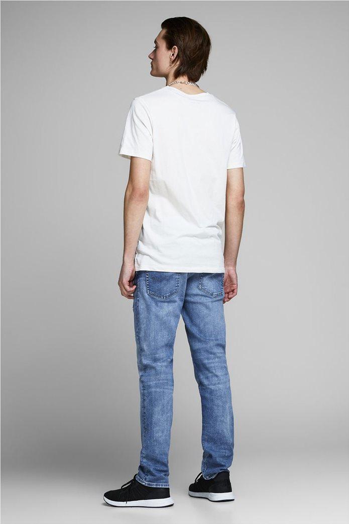 JACK & JONES Ανδρικό jean παντελόνι Tim Original JJ 145 Lid Μπλε Σκούρο 3