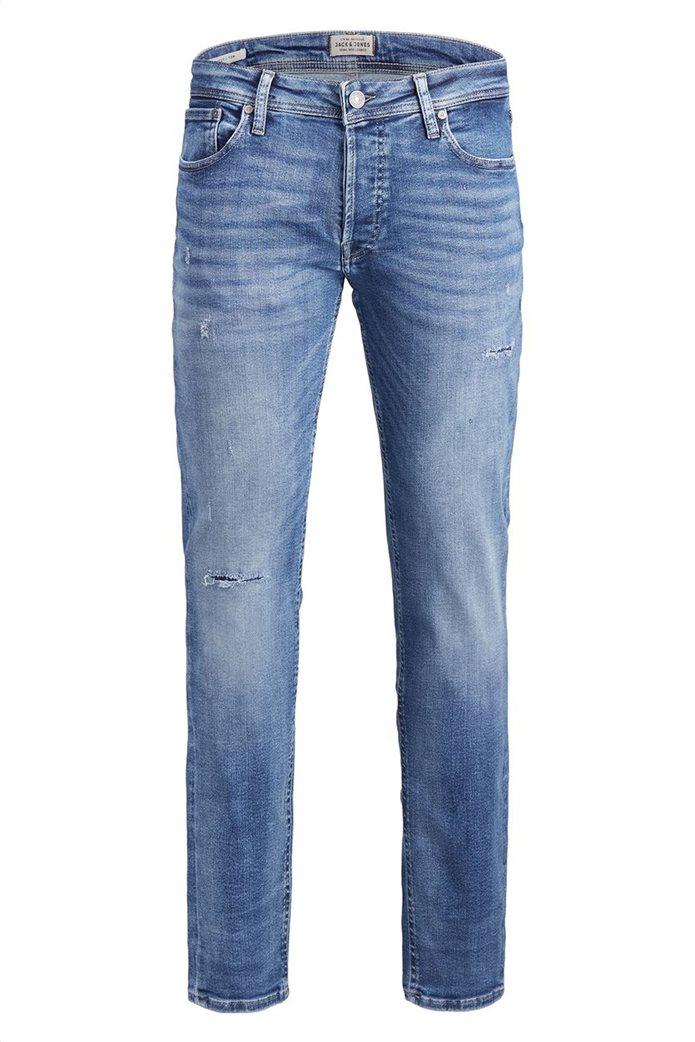 JACK & JONES Ανδρικό jean παντελόνι Tim Original JJ 145 Lid Μπλε Σκούρο 6