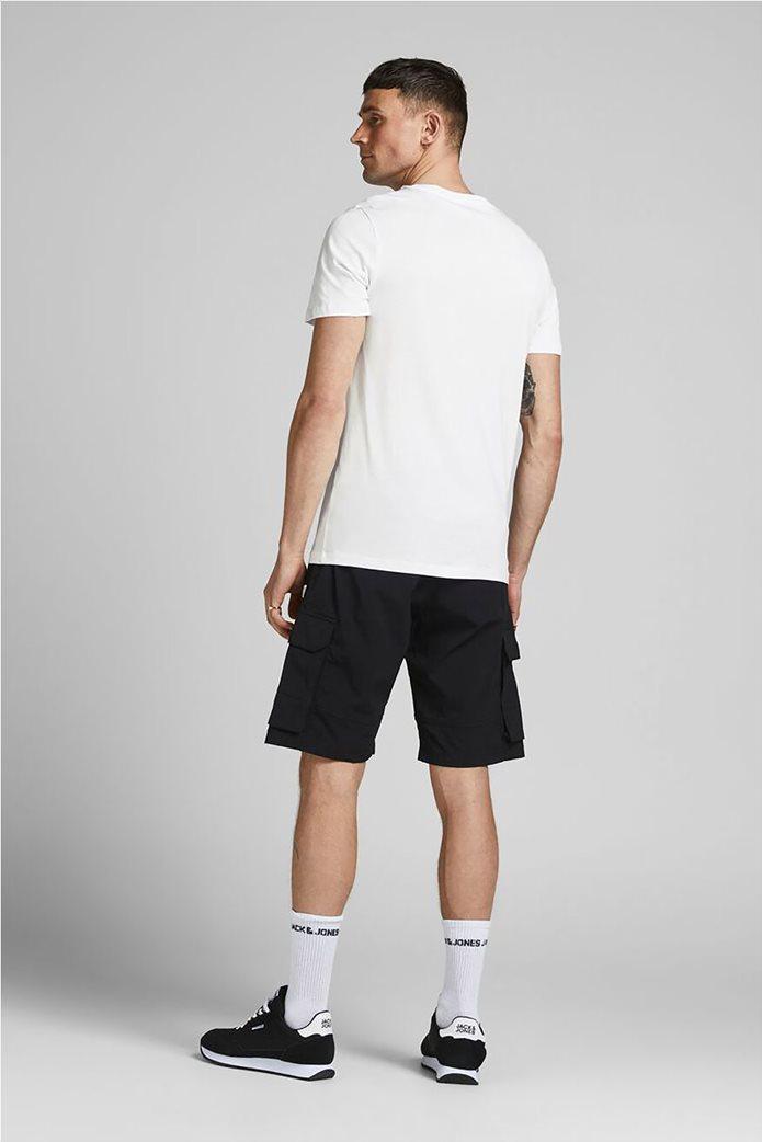 JACK & JONES Ανδρικό Τ-shirt casual μονόχρωμο με logo 3