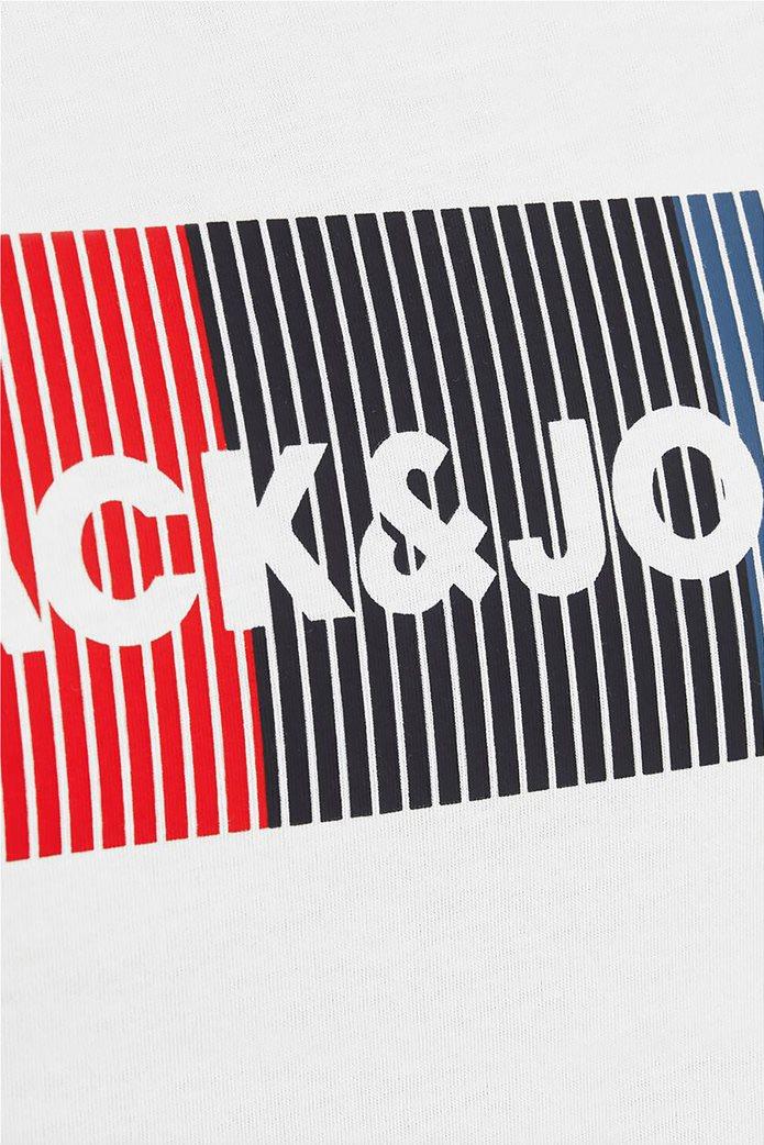 JACK & JONES Ανδρικό Τ-shirt casual μονόχρωμο με logo 4