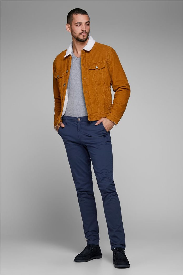 JACK & JONES Ανδρικό παντελόνι chino Marco Bowie Navy Blazer 2