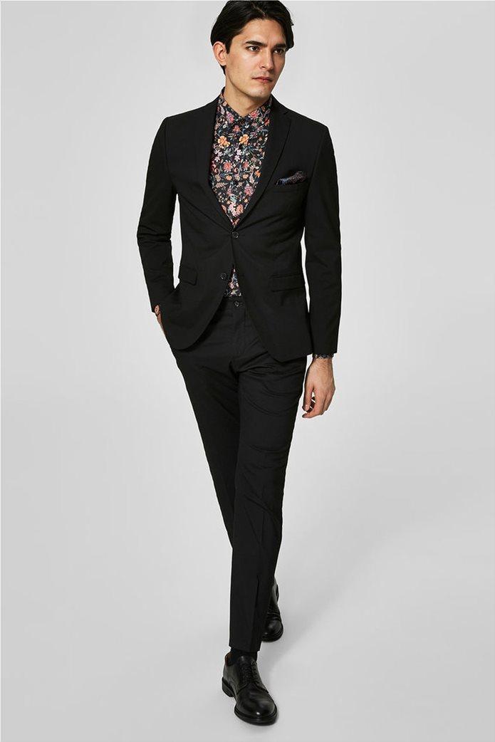 SELECTED ανδρικό σακάκι Slim fit Μαύρο 2
