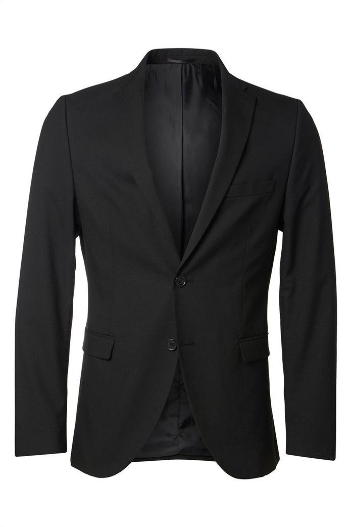 SELECTED ανδρικό σακάκι Slim fit Μαύρο 6