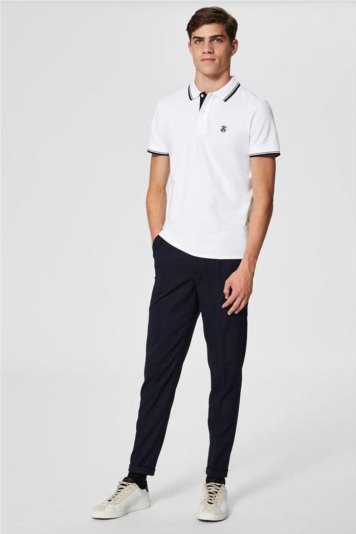 Selected ανδρική μπλούζα πόλο με ρίγα στο γιακά και στα μανίκια 2