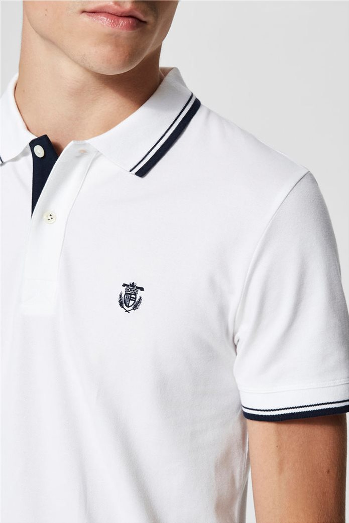 Selected ανδρική μπλούζα πόλο με ρίγα στο γιακά και στα μανίκια 3