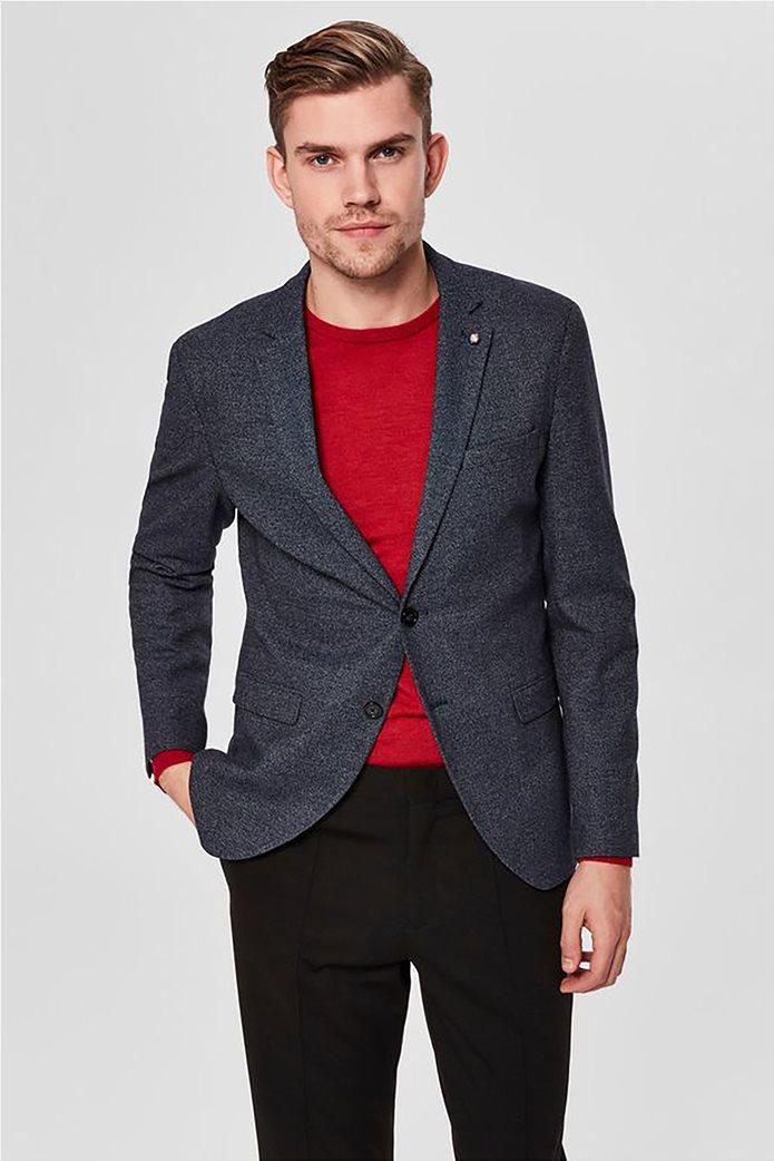 SELECTED ανδρικό βαμβακερό σακάκι Slim fit 0