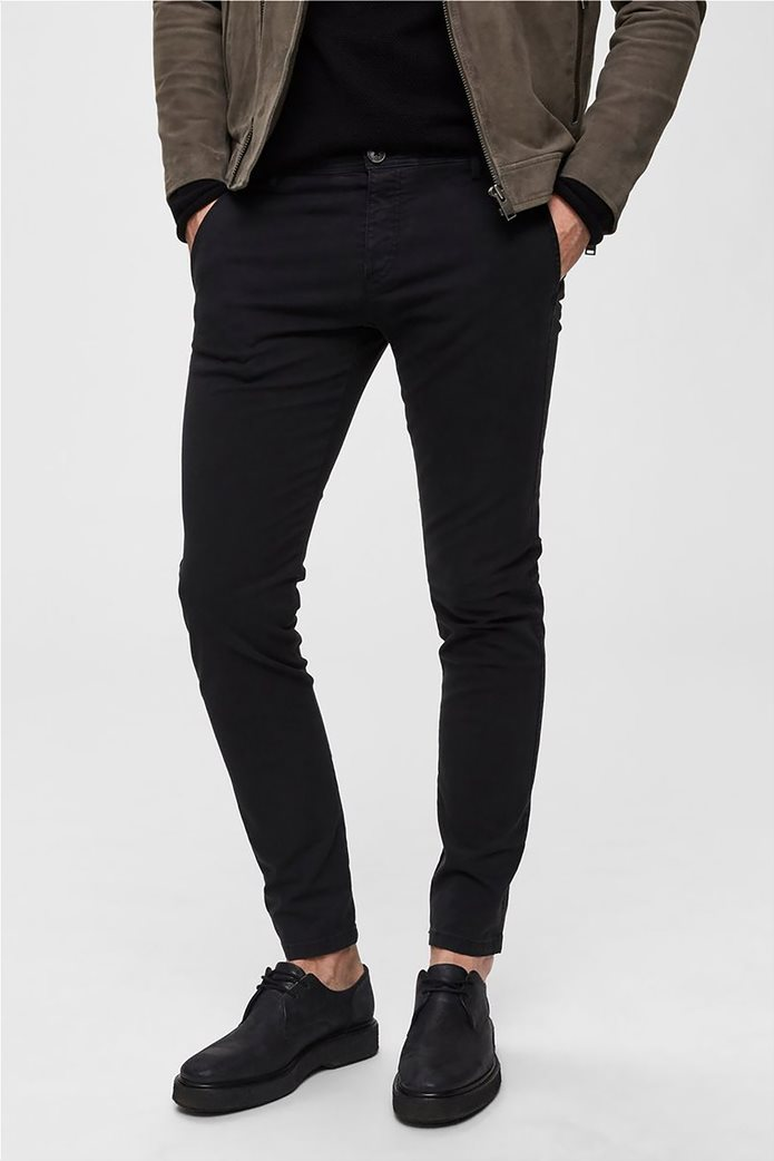 Selected ανδρικό chino παντελόνι skinny fit 1