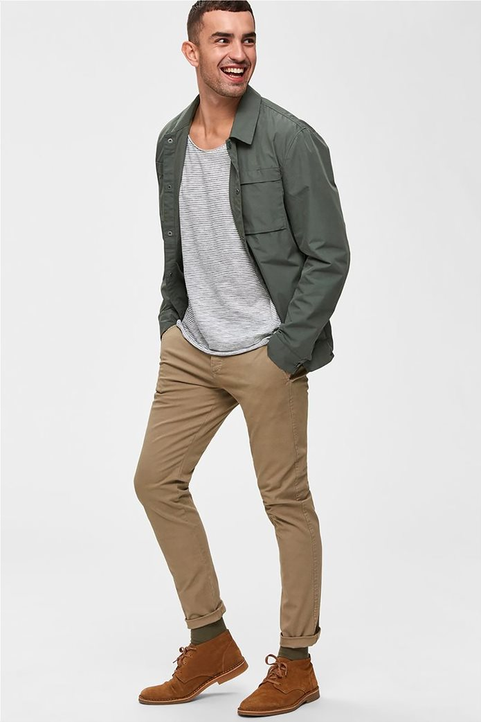 Selected ανδρικό chino παντελόνι skinny fit 0