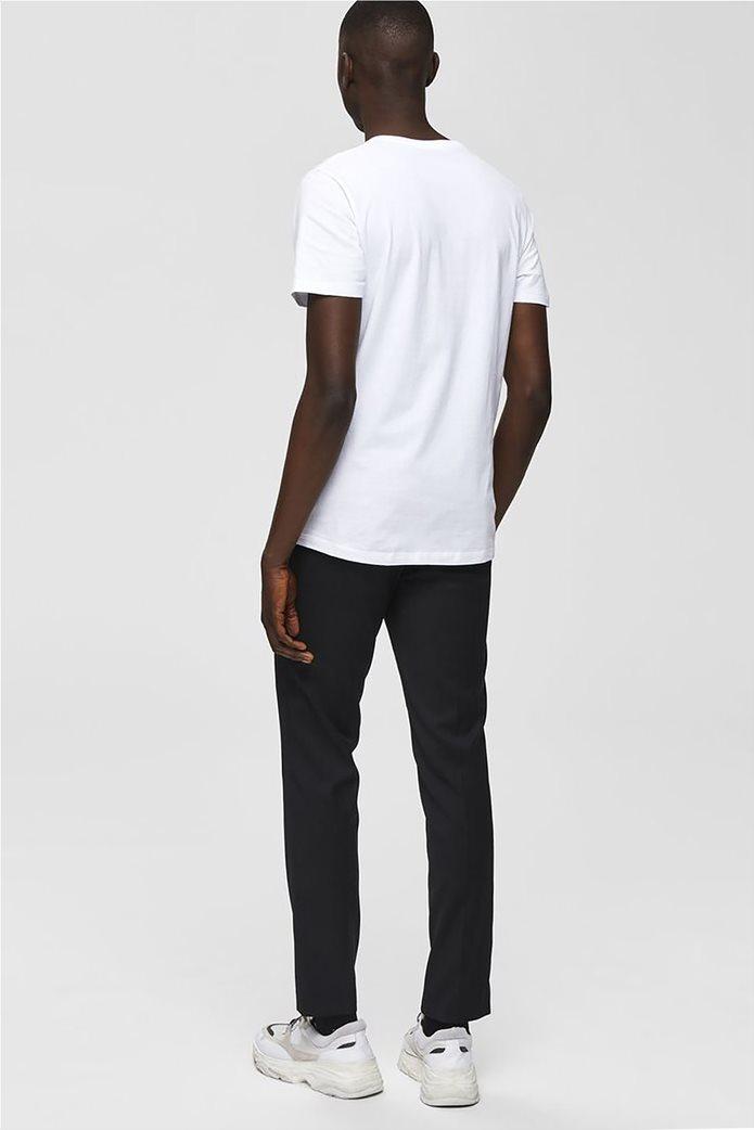 Selected ανδρικό T-shirt μονόχρωμο με letter print 3