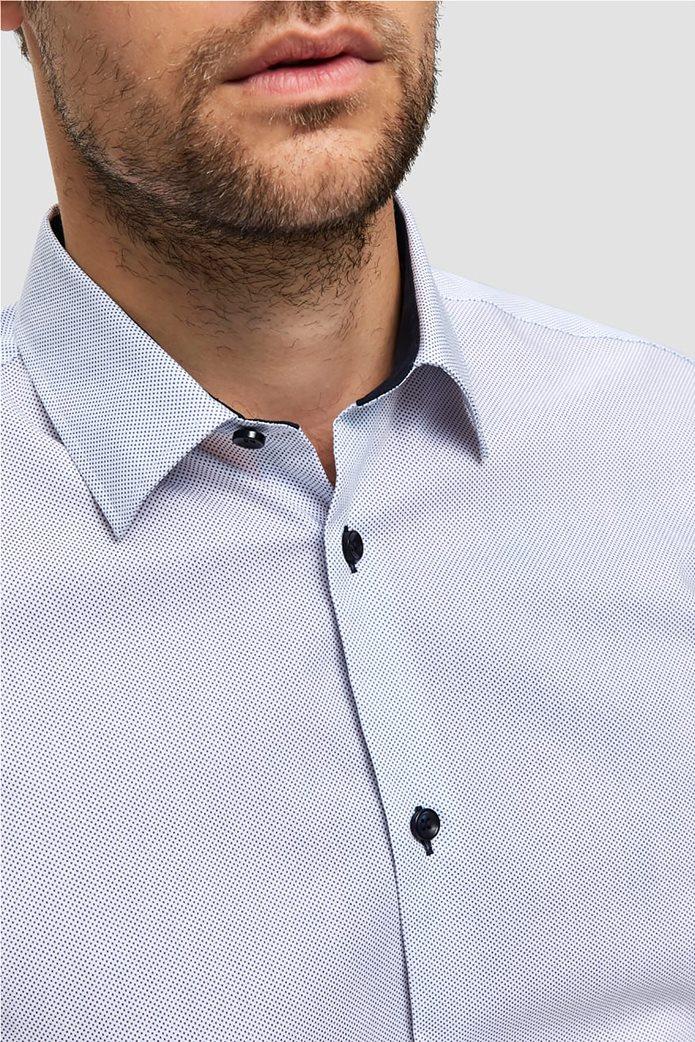 Selected ανδρικό πουκάμισο με λεπτομέρειες σε αντίθεση 1