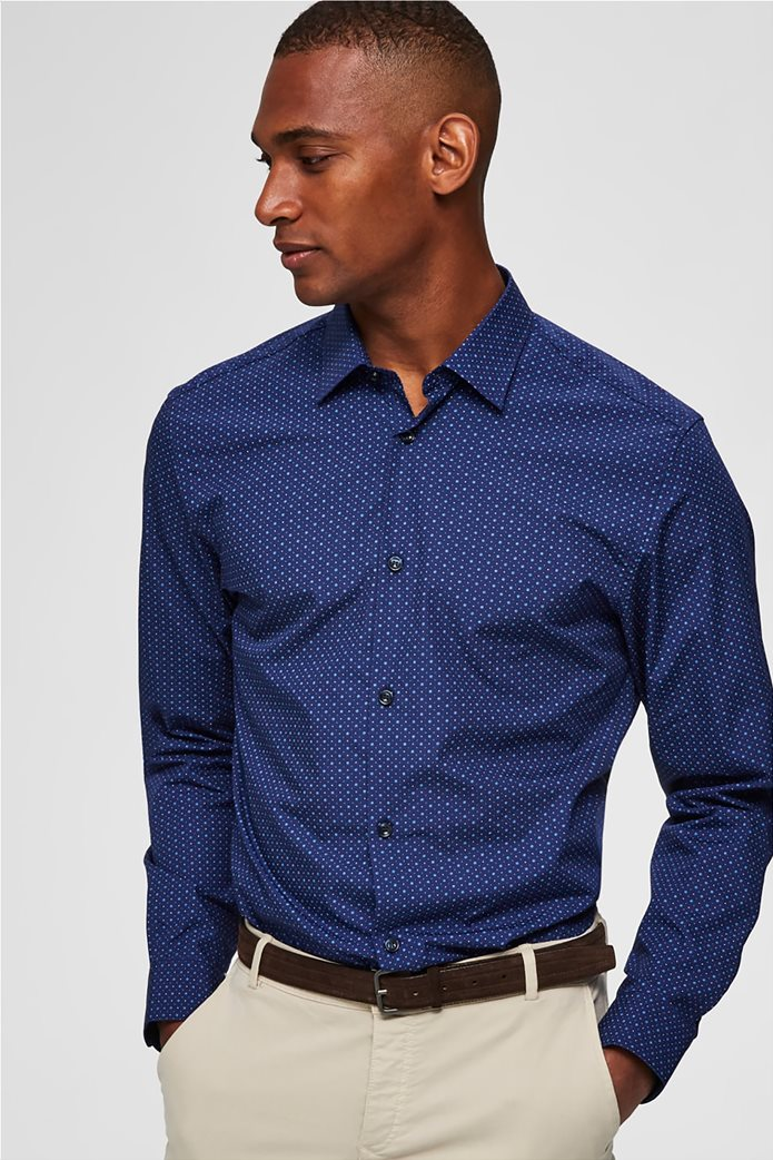 Selected ανδρικό πουά πουκάμισο Slim fit 0