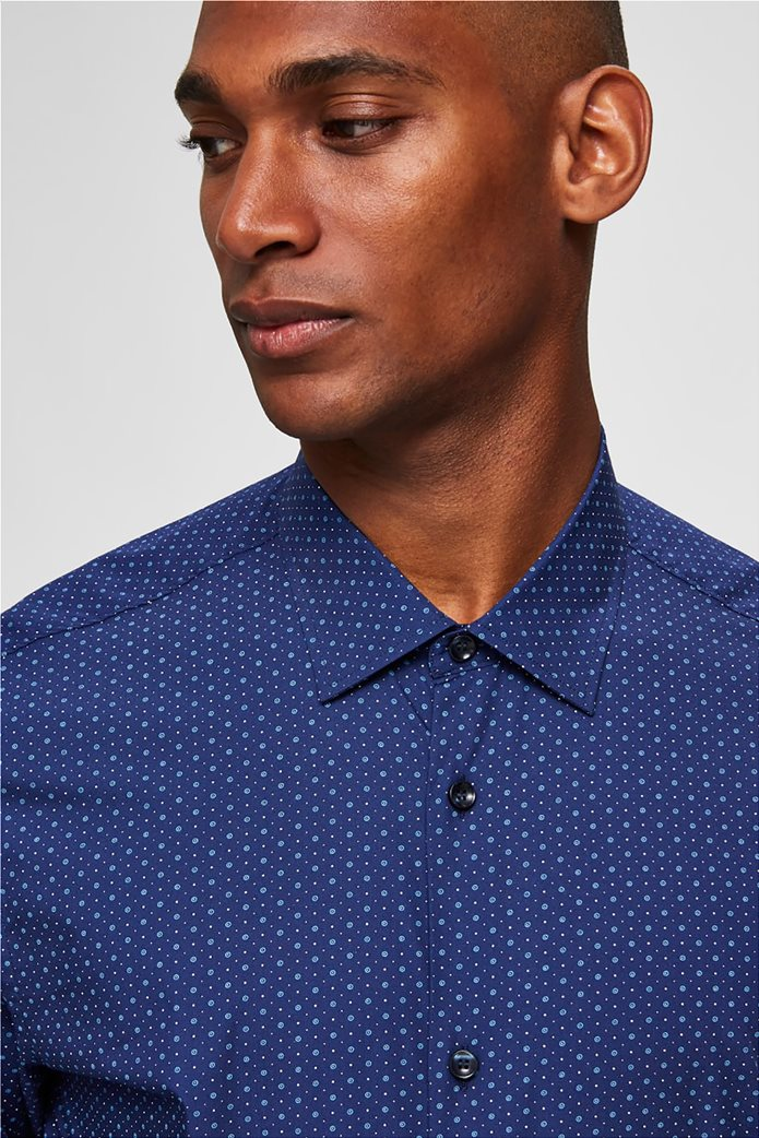 Selected ανδρικό πουά πουκάμισο Slim fit 1