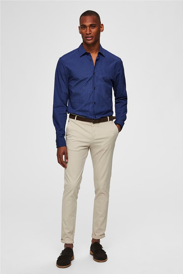 Selected ανδρικό πουά πουκάμισο Slim fit 2