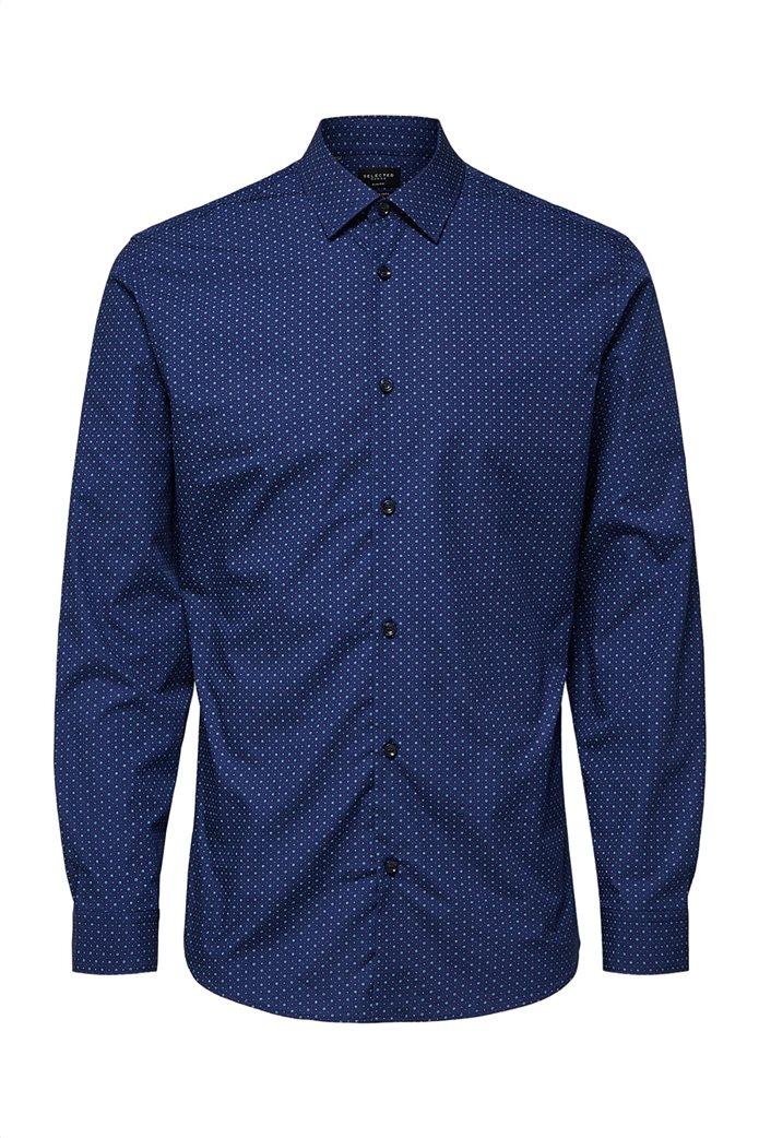 Selected ανδρικό πουά πουκάμισο Slim fit 4