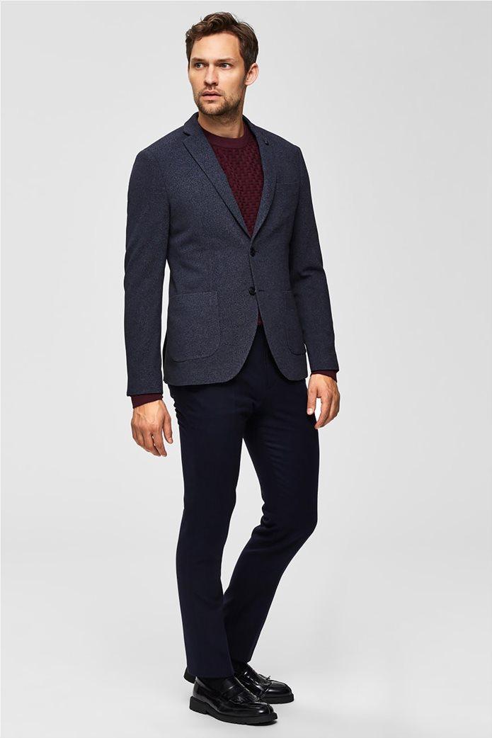 Selected ανδρικό σακάκι σε melange look δίκουμπο Slim fit 2