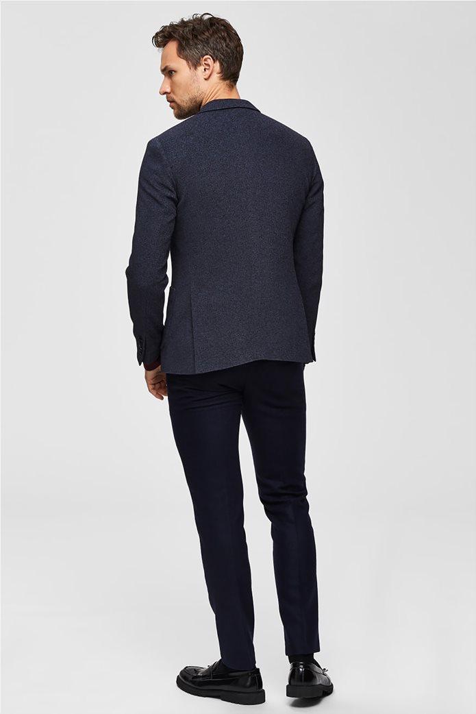 Selected ανδρικό σακάκι σε melange look δίκουμπο Slim fit 3
