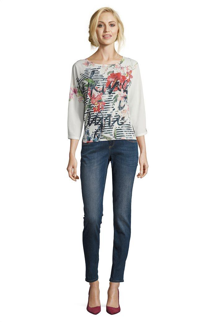 BΕΤΤΥ & CO Γυναικεία μπλούζα με φλοράλ και letter print 2