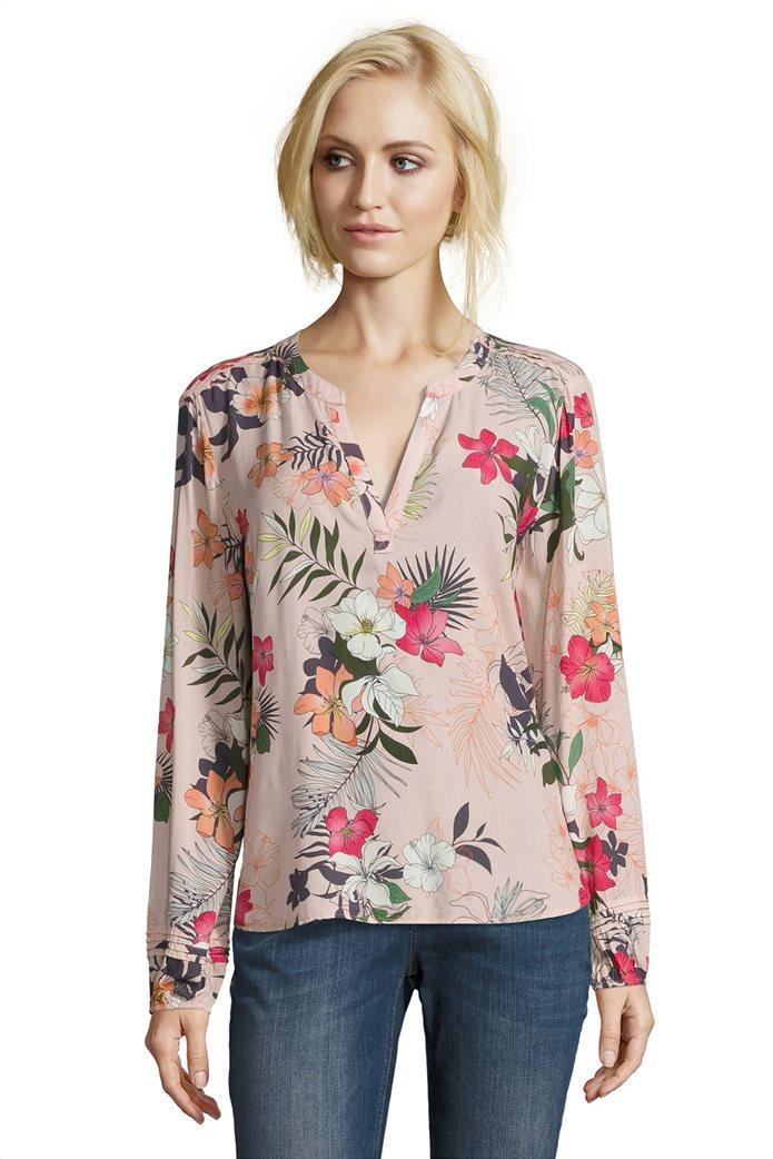 BΕΤΤΥ & CO Γυναικεία μπλούζα V με all over φλοράλ print 0