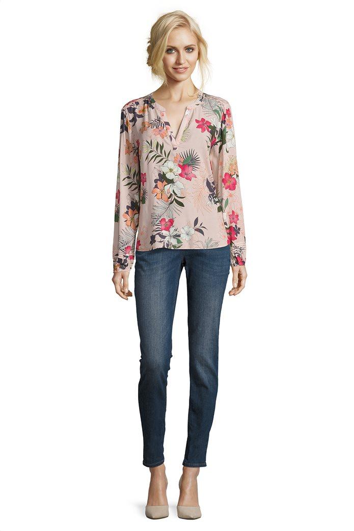 BΕΤΤΥ & CO Γυναικεία μπλούζα V με all over φλοράλ print 2