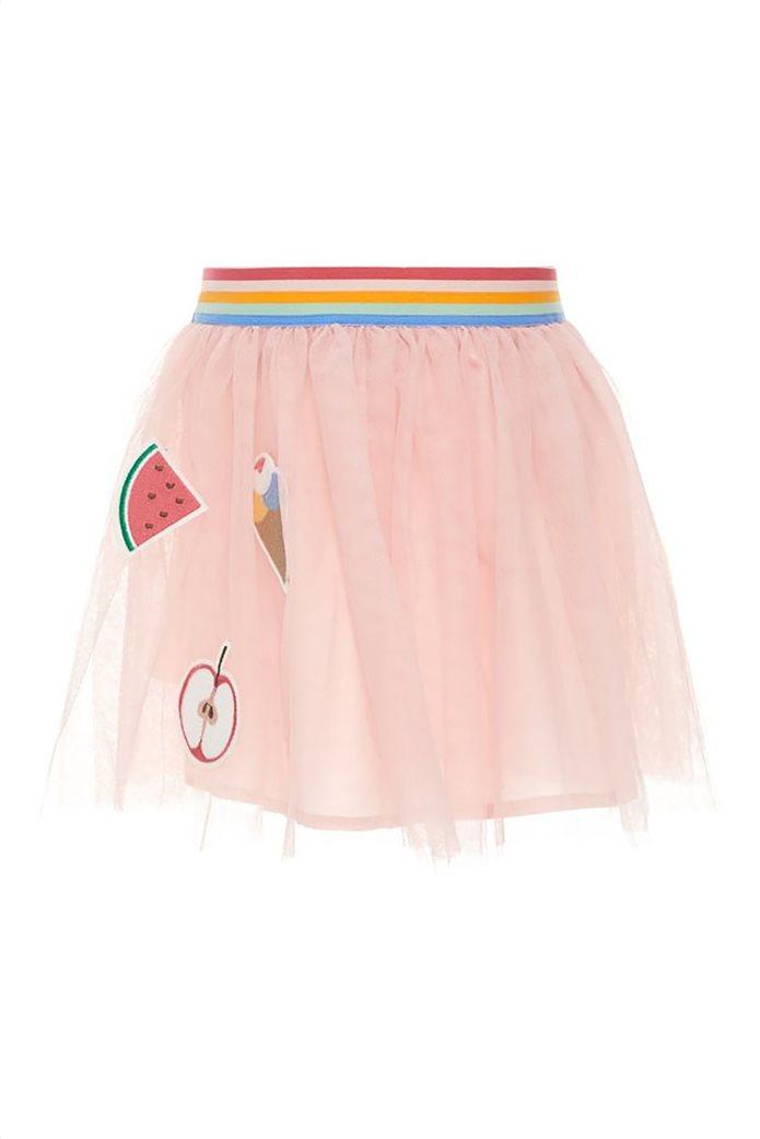 Name It Παιδική φούστα τούλι μονόχρωμη με απλικέ σχέδια και λάστιχο στη μέση 0