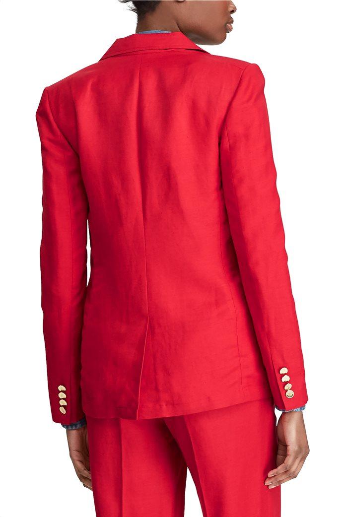 Lauren Ralph Lauren γυναικείο λινό σακάκι μονόκουμπο 1